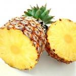Две половинки ананаса