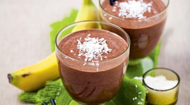 Шоколад с кокосом и бананом