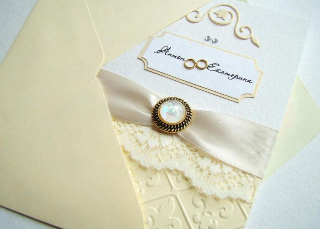 Изготовление приглашения на свадьбу своими руками