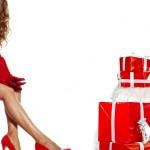 Девушка на коробке с подарком