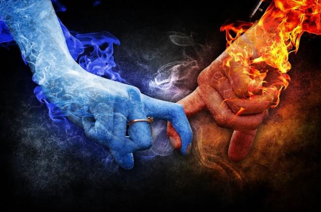 Две руки: огонь и лёд