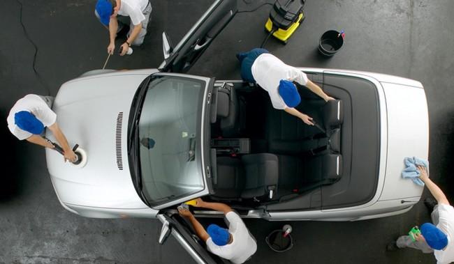 Профессиональная чистка машины