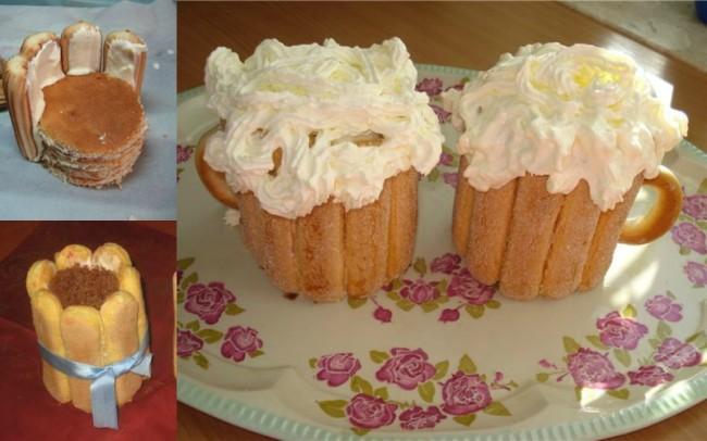 Этапы приготовления торта Пивная кружка