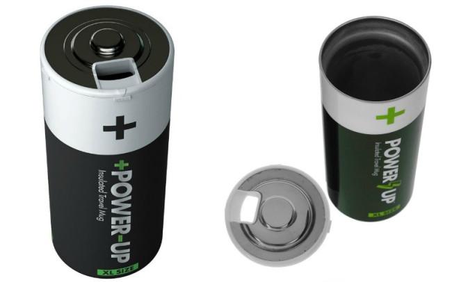Фляга в виде батарейки