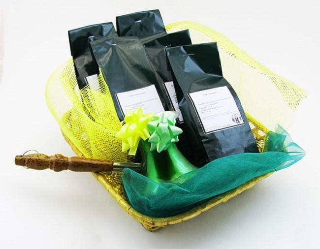 Кофейная подарочная корзина
